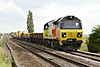 70812 approaches Welney Road AHB on 6L37 Hoo Junction - Whitemoor Yard, 19/09/17.