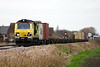 70014 approaches Three Horseshoes AHB No.1 on a diverted Crewe Basford Hall - Felixstowe North, 11/01/20.