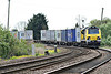 70018 rounds the bend from Silt Road LC on a diverted 4M87 Felixstowe South - Basford Hall freightliner, 03/05/14.