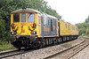 73961 ALISON passes Badgeney Road AHB on the rear of 1Z01 Cambridge 0 Derby RTC, headed by 73964 JEANETTE, 03/09/21.