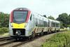 Class 755 407 passes Silt Road LC on 2L73 0950 Peterborough - Ipswich, 09/08/21.