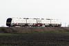 Class 755 407 crosses Horsemoor on 2E74 1001 Ipswich - Peterborough, 18/02/20.
