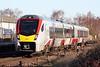 Class 755 402 draws into Whittlesea on 2E76 1201 Ipswich - Peterborough, 18/01/20.