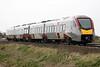 Class 755 407 passes Welney Road AHB on 2E78 1358 Ipswich - Peterborough, 21/02/20.