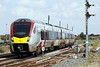 Class 755 414 slows to stop at March on 2E78 1358 Ipswich - Peterborough, 19/07/21.