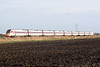 Class 800 104 approaches Three Horseshoes AHB No.1 on 1S12 0921 Kings Cross - Edinburgh, 11/01/20.