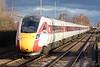 Class 800 103 passes Whittlesea Station on the diverted 1E09 0930 Edinburgh - Kings Cross, 12/01/20.