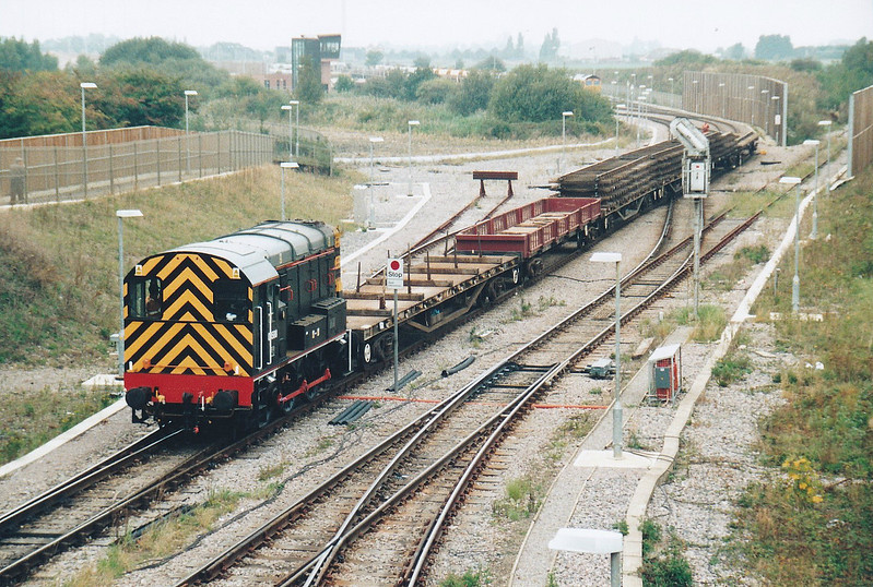 08580, an old March loco, has turned up as one of the new Whitemoor pilots, seen here on 08/10/05.