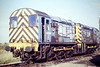 08256 and 08261 are longtime March based shunters, here on Depot, 28/09/84.