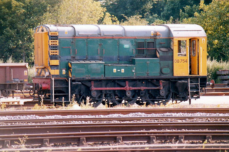 08754, based at Grant Rail's Workshops in March Down Yard, evidently an ex-Freightliner loco, 15/07/05.