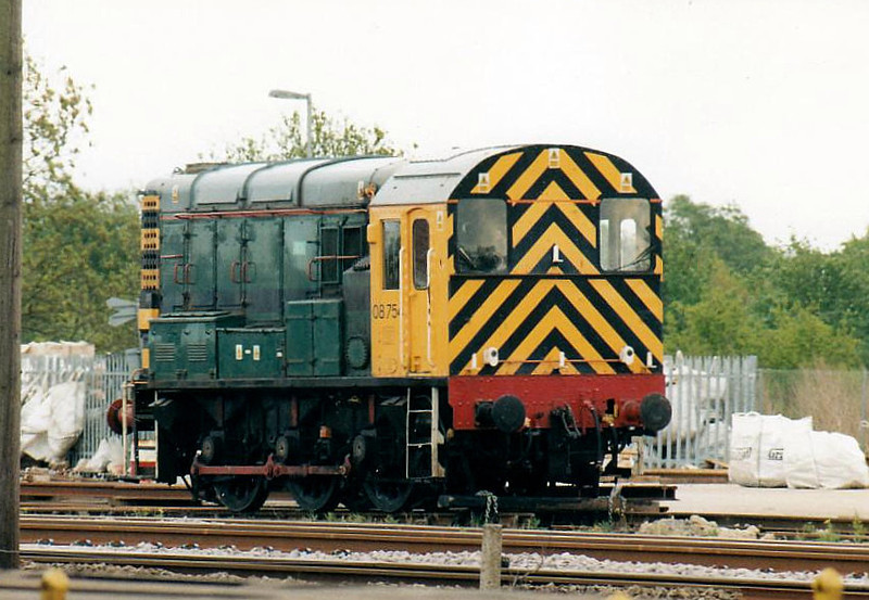 08754 is the new pilot at Grant Rail's March Depot, 25/04/03, this one mainline registered.