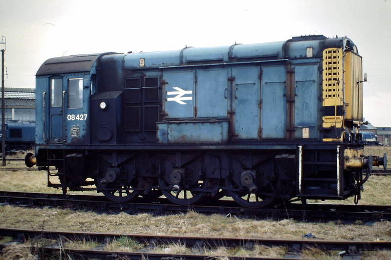 08427, sans coupling rods, at March Depot, 03/88. This loco was officially withdrawn in November 1986 but I'm sure that it was still in use well after that date.