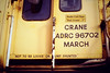 MARCH BREAKDOWN CRANE - all of the relevant details for March's breakdown crane, 02/88.