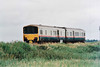 Class 950 999600/999601, track assessment unit, built in 1987 in a 'Sprinter' body shell - passes Horsemoor eastbound, 02/07/98.