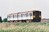 Class 150 235 passes Horsemoor on a Peterborough - Ipswich service, 08/05/98.