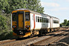 Class 156 422 passes Badgeney Road AHB en route from Wolverton Works to Norwich, 12/06/14.