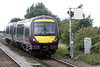Class 170 503 passes Whittlesea on 5L10 Grantham - Norwich crew trainer, 12/08/21.