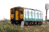 Class 150/2 - 150 280 - in Arriva Trains Wales livery heads east past Horsemoor as 5Z30 Cardiff Canton - Norwich Crown Point transfer working, 04/10/11, apprently bound for Treherbert at this end.
