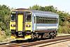 Class 153 314 passes Silt Road LC as 5Z54 Norwich Crown Point - Wolverton Works en route for maintenance, 08/09/14.