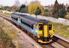 Class 156 416 passes March West Junction on 1003 to Peterborough, 06/04/07.