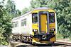 Class 156 422 makes an unusual sight on 1E78 1359 Ipswich - Peterborough at Badgeney Road AHB, 25/07/14.