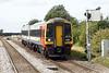 Class 158 770 passes Whittlesea on 1L08 1140 Nottingham - Norwich, 12/08/21.