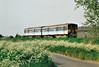 Class 150 229 heads east past Horsemoor on a Peterborough - Ipswich service, 14/05/98.