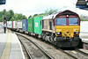 66142 is eastbound through March Station on 4L45 Wakefield Europort - Felixstowe Intermodal South, 16/07/14.