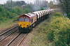 66116 approaches March West on 6E83 Middleton Towers - Monk Bretton sand, 25/04/00.