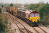 66010 approaches March West on 6L76 Doncaster - Ely North Junction Enterprise, 17/04/01.