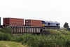 66005 MARITIME INTERMODAL ONE passes Beggars Bridge on 4L45 Wakefield Europort - Felixstowe South, 02/07/21.
