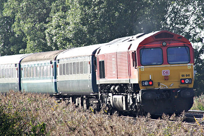 66041 on the rear of the Branch Line Society's 'Bow Bells' Rail Tour passing Silt Road Crossing with 66088 leading. 14/09/19. The tour starts/ends in Nottingham and is bound to explore an array of obscure sidings in the east of England.