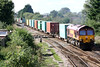 66002 approaches March West Junction on 4L45 Wakefield Europort - Felixstowe South, 23/09/16.