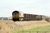 66078 approcahes Horsemoor AHB on the Bow - Heck Plasmor Block empties, 08/02/11.
