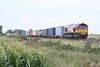 66134 approaches Welney Road AHB on 4L45 Wakefield Europort - Felixstowe South, 23/09/15.