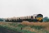 66074 approaches Baileys No.71 OC on 6L41 Mountsorrel - Barham Redalnd stone, 09/04/02.