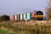 66003 passes Horsemoor AHB on 4L45 Wakefield - Felixstowe, 15/11/11.