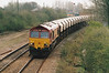 66118 approaches March West on 6E83 Middleton Towers - Monk Bretton sand, 17/04/01.