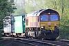 66139 approaches Badgeney Rad AHB on 4L07 Burton on Trent - Felixstowe North, 07/04/17.