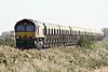 66186 approaches Welney Road AHB on 6M70 Chesterton Junction - Mountsorrel S/D stone empties, 31/10/14.