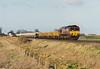 66074 approaches Welney Road AHB  on 6T16 Whitemoor Yard - Bishops Stortford ballast, 20/01/07.