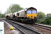 66012 approaches Badgeney Road LC on a very short 6L39 Mountsorrel - Trowse, 17/10/11.