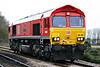 66100 ARMISTICE 100 1918-2018 approaches Badgeney Road AHB on 0G02 Peterborough - Sandy light engine, 12/01/19.