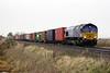 66005 MARITIME INTERMODAL ONE approaches Welney Road AHB on 4L45 Wakefield Europort - Felixstowe South, 07/01/20.
