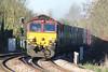66186 crosses Badgeney Road AHB on 4L45 Wakefield Europort - Felixstowe South, 12/11/15.