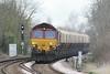 66135 passes Badgeney Road AHB on 6L38 Mountsorrel - Broxbourne stone, 30/03/15.
