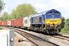 66005 MARITIME INTERMODAL ONE approaches Badgeney Road AHB on 4L45 Wakefield Europort - Felixstowe South, 19/05/21
