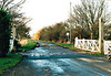 WISBECH BRANCH (14) - When I took these pictures on New Years Day 2006, the Wisbech Branch had been mothballed for about 5 years. Coldham Station was just to the right here, only intermediate station on the line. These gates were actually replaced after the line closed!