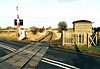 WISBECH BRANCH (19) - When I took these pictures on New Years Day 2006, the Wisbech Branch had been mothballed for about 5 years. Elm Road Level Crossing, most southerly of the 7 level crossings on the line (2 ungated, 3 hand operated, 2 half barriers). Note the 25 mph speed limit sign on the left of the track.