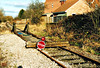 WISBECH BRANCH (22) - When I took these pictures on New Years Day 2006, the Wisbech Branch had been mothballed for about 5 years. The buffer stop on the line just past Whitemoor Junction, one of the old ones from Whitemoor Yard. Obviously the buffer stop was very valuable as the presence of the sleepers and stop sign prove! The semaphore signals controlling the branch were just about here. All of this was removed when work began on the new yard and this piece of track was used for wagon storage.